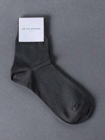 UNITED ARROWS UBSCアンクルリブソックス ユナイテッドアローズ ファッショングッズ ソックス/靴下 グレー ホワイト ブラック ベージュ
