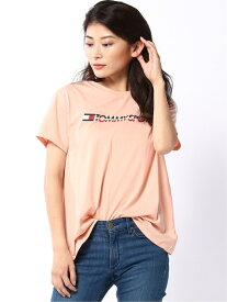【SALE/50%OFF】TOMMY SPORT (W)TOMMY HILFIGER(トミーヒルフィガー) T-shirt Chest Logo トミーヒルフィガー カットソー Tシャツ ピンク ホワイト