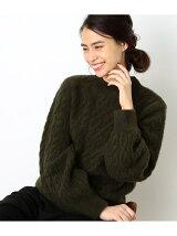 【WEB限定】ケーブル編み袖ボリュームニット
