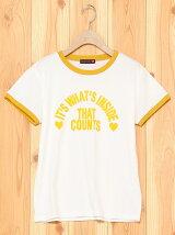 ロゴ入りリンガーTシャツ
