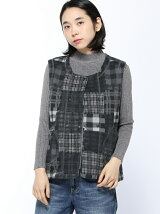 (W)W s Check Patchwork Fleece V