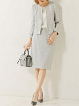 ○UBCE P/R タイト スカート OFF WHITE