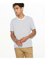 【WEB限定】吸水速乾ボーダークルーネックTシャツ