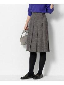 Sonny Label ボックスプリーツチェックスカート サニーレーベル スカート スカートその他 ベージュ グレー【送料無料】