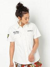 刺繍ミリタリーシャツ