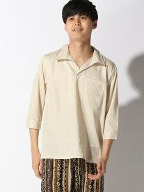 【SALE/36%OFF】CORISCO CORISCO/(M)ブロード7ブソデキーネックシャツ サンコーバザール シャツ/ブラウス 七分袖シャツ ベージュ ブラック ネイビー ピンク ブルー