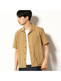 COMME CA COMMUNE オープンカラーシャツ コムサイズム シャツ/ブラウス 半袖シャツ ベージュ グレー ブラウン カーキ【送料無料】