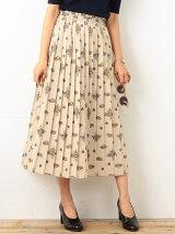 【MORE5月号掲載】ビーミング by ビームス / FLOWERミディプリーツスカート BEAMS