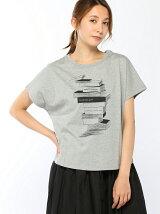 ワイドショルダープリントTシャツ