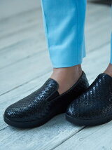 (W)SUPERSKATE LOAFERS - WOVEN LEATHER