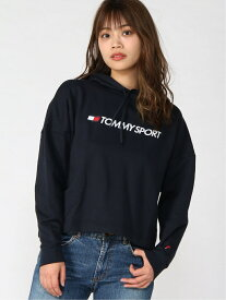 TOMMY SPORT (W)TOMMY SPORT(トミースポーツ) ロゴパーカー トミーヒルフィガー カットソー パーカー ネイビー イエロー グレー【送料無料】