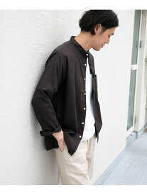 【SALE/60%OFF】DOORS イージーケアバンドカラーシャツ アーバンリサーチドアーズ シャツ/ブラウス シャツ/ブラウスその他 ベージュ グリーン ブラック