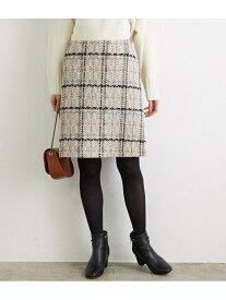ROPE' PICNIC チェック柄台形スカート ロペピクニック スカート スカートその他 ベージュ ブラック グリーン【送料無料】