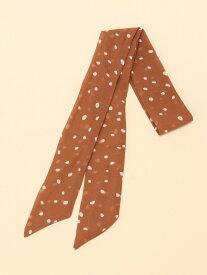 LEPSIM K/ガラツイリースカーフ レプシィム ファッショングッズ スカーフ/バンダナ オレンジ グレー ベージュ ブラウン ホワイト