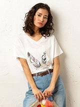 フェザーTシャツ