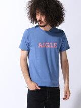 (M)[メンズ] 吸汗速乾 エーグルロゴプリントTシャツA