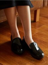 (W)AUDREY CRINKLE-PATENT SMOKING SLIPPER