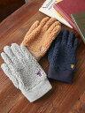 【SALE/10%OFF】coen 【先行販売】ベア刺繍ボアコンビグローブ(手袋) コーエン ファッショングッズ 手袋 グレー ブラ…