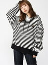【SALE/30%OFF】X-girl STRIPED SWEAT HOODIE エックスガール カットソー パーカー ブラック カーキ レッド【送料無…