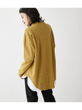 MOCK NECK BACK BUTTON L/S TEE/モックネックバックボタンロングスリーブTシャツ