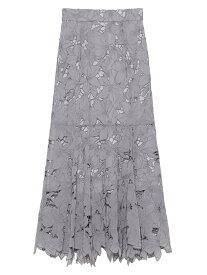 SNIDEL Sustainableカッティングレーススカート スナイデル スカート ロングスカート グレー ホワイト ベージュ【送料無料】