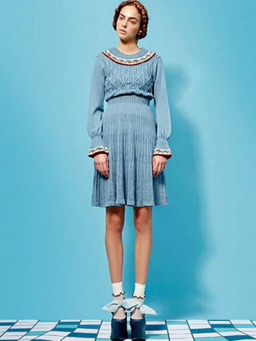 FIRE CARNATION KNIT DRESS
