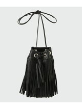 Cow Leather Drawstring Bag S