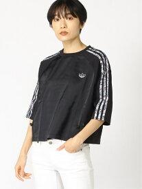 adidas Originals ボクシーTシャツ / アディダスオリジナルス アディダス カットソー Tシャツ ブラック ホワイト【送料無料】