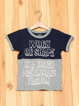 L.COPECK/(K)エルコベック バイカラーロゴTシャツ
