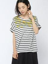 衿ぐりレモンプリントタックTシャツ