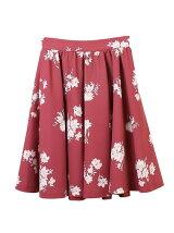 オリジナル花柄プリントフレアスカート