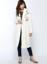 フラワー刺繍ロングコート