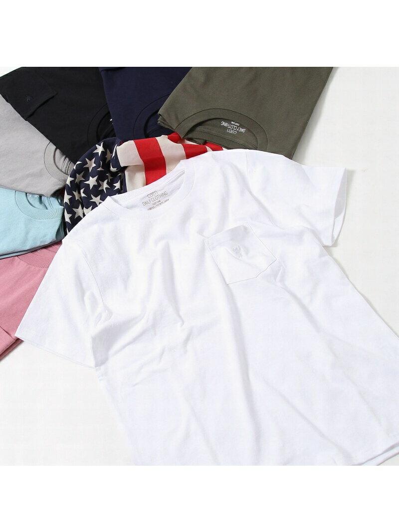 coen USAコットンクルーネックポケットTシャツ2018SS(ライトピンク、ライトブルー⇒WEB限定カラー) コーエン カットソー【先行予約】*