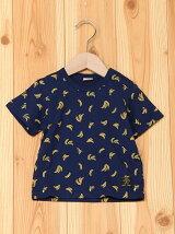 バナナ総柄Tシャツ/キッズ/夏