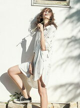3LADIES柄ドレス/ワンピース/ルームウエア/パジャマ