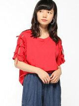 【BROWNY】(L)リボンスリーブTシャツ