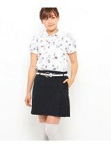 ロンドンモチーフプリント半袖ポロシャツ