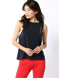 【SALE/50%OFF】TOMMY SPORT (W)TOMMY HILFIGER(トミーヒルフィガー) OPEN HOLE MESH TANK トミーヒルフィガー カットソー タンクトップ ネイビー ピンク【送料無料】