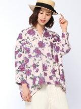 フラワープリントビックシャツ