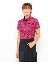 ADロゴプリント半袖ポロシャツ