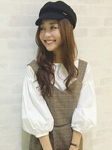 【sweet 10月号掲載】【sweetコラボアイテム】ビスチェ×バルーン袖ブラウス SET