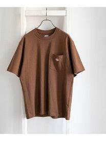 DOORS DANTON クルーネック半袖ポケットTシャツ アーバンリサーチドアーズ カットソー Tシャツ ブラウン ホワイト ブラック ネイビー ベージュ オレンジ【送料無料】