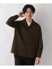 GLOBAL WORK (M)メランジCPOシャツBZ グローバルワーク コート/ジャケット テーラードジャケット ブラウン ネイビー ベージュ【送料無料】