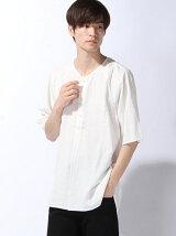 【BROWNY】(M)フェードリネンプルオーバーシャツ5