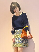 フランスジャカード台形ミニスカート