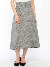 doll up oops/(W)ベルト付き チェックフレア スカート