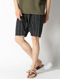 【SALE/30%OFF】CORISCO CORISCO/(M)ポリトロイージーストライプショーツ サンコーバザール パンツ/ジーンズ ショートパンツ ブラック ベージュ レッド