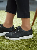(W)F-SPORTY SCOOP-CUT PERF SNEAKERS-LEATHER