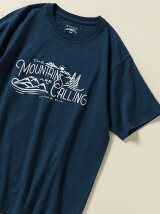 UNITEDBYBLUE:SHIPS別注MOUNTAINSARECALLINGTシャツ