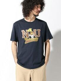 【SALE/60%OFF】nano・universe Selected :オーガニックカレッジTシャツ 4 ナノユニバース カットソー Tシャツ ネイビー ブラック ホワイト レッド